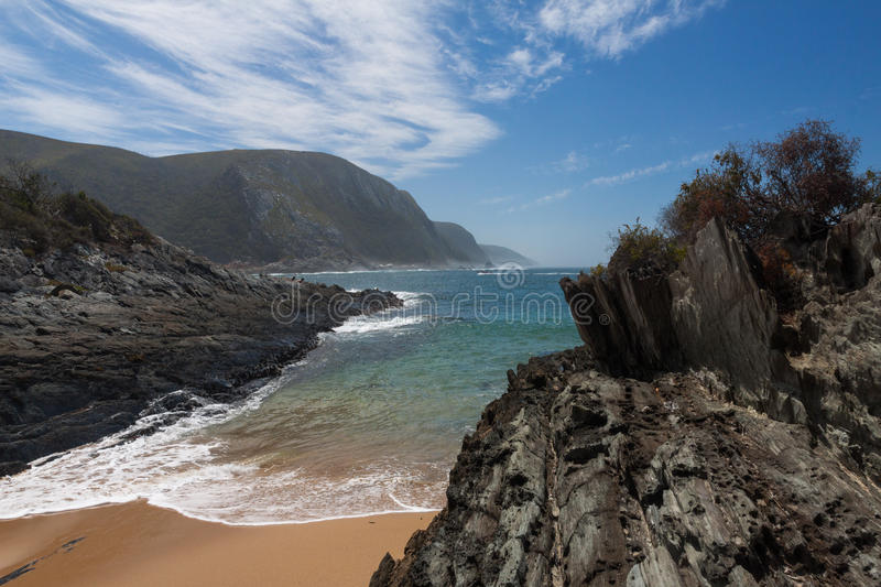 Storms River Mouth. In Tsitsikamma NP, South Africa royalty free stock image