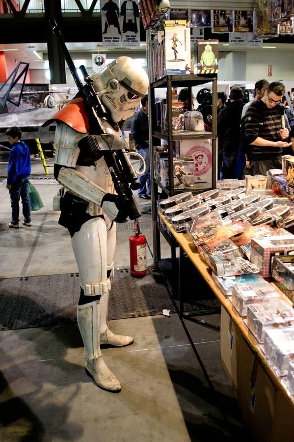Stormtrooper at Cartoomics 2014 stock images