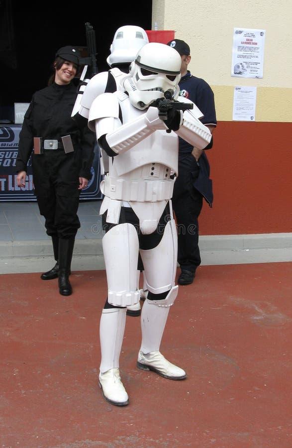 Stormtrooper do tiro imagem de stock