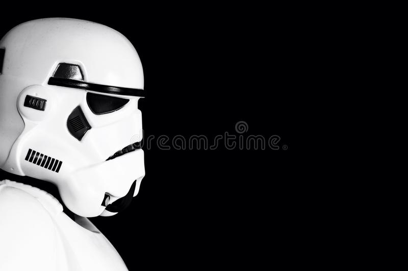 Stormtrooper Profile royalty free stock images