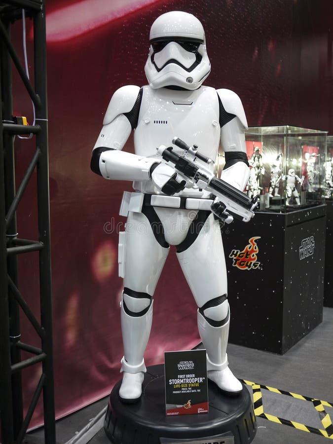 Stormtroopermilitair in Toy Soul 2015 stock afbeelding