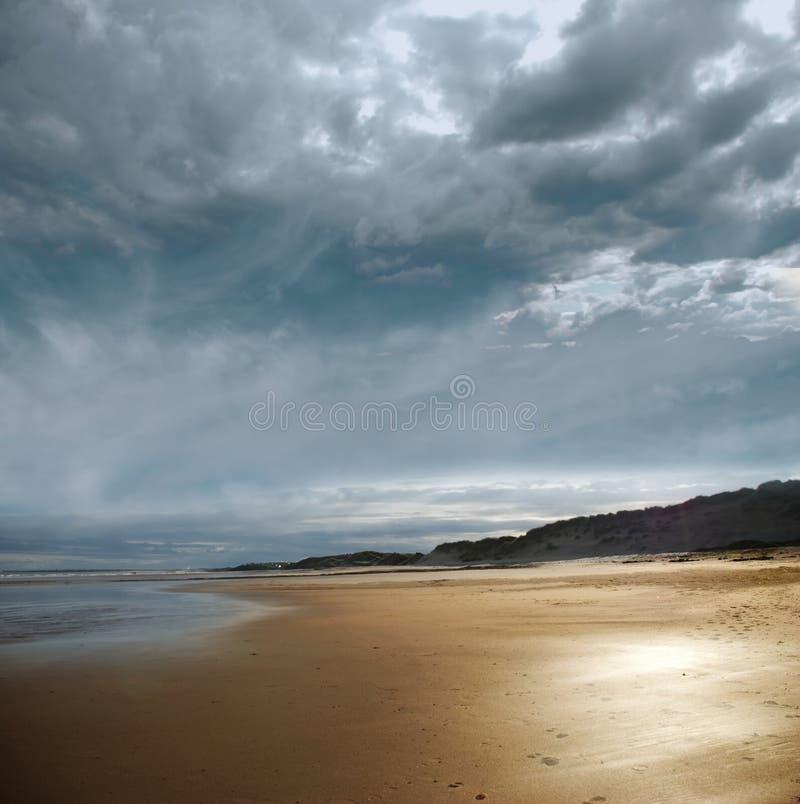 Stormy beach stock photography