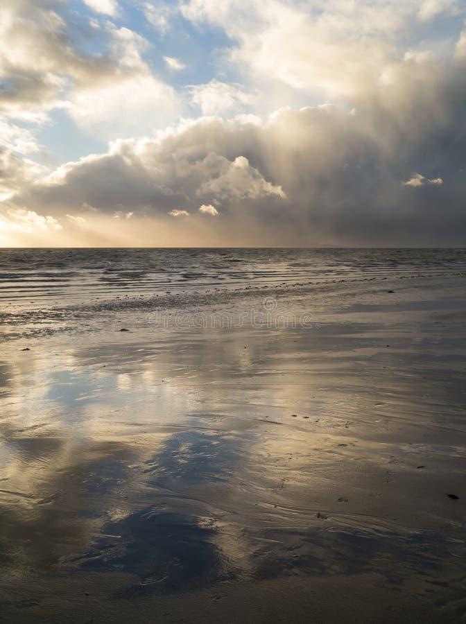 Stormy beach stock image
