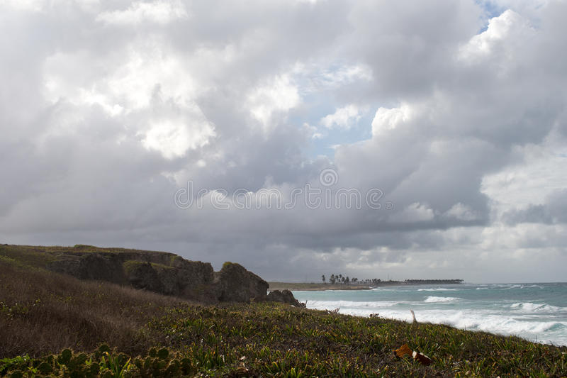 Stormy beaches royalty free stock photography