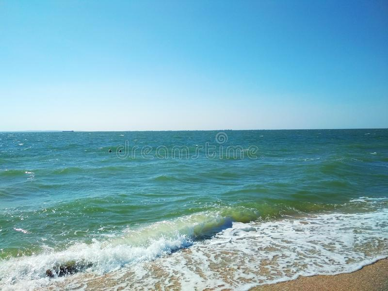 The stormy Black Sea royalty free stock images