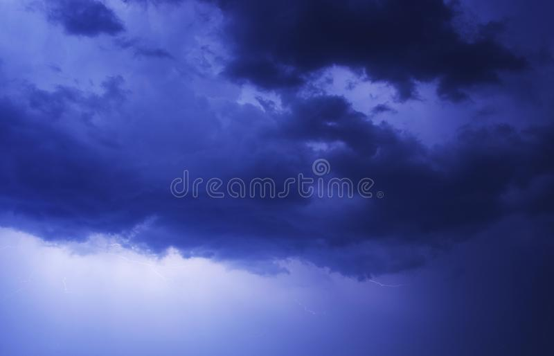 Stormy Blue Sky royalty free stock photography