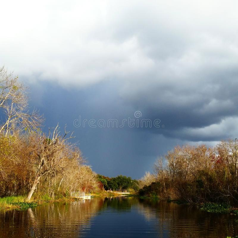 Stormy Canal stock image