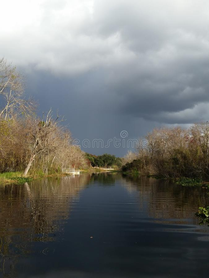 Stormy Canal royalty free stock photography