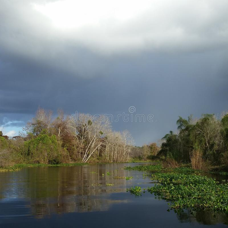 Stormy Canal stock images