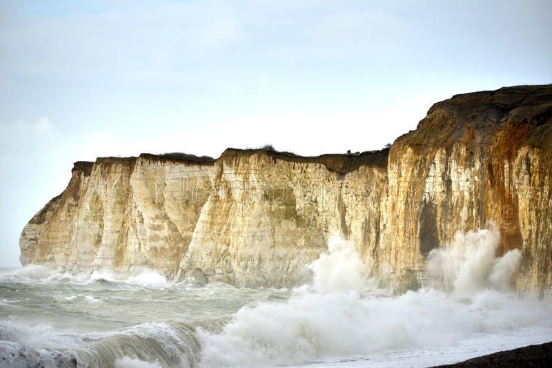 Stormy cliffs royalty free stock photos