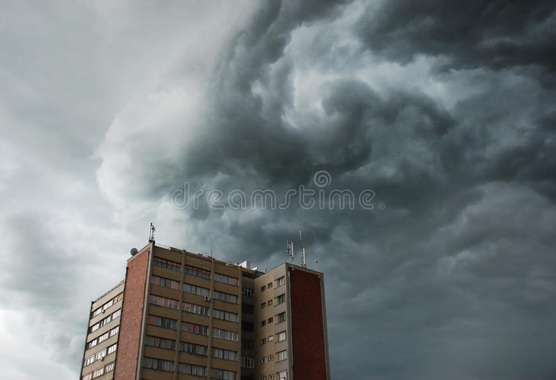 Stormy clouds royalty free stock photography