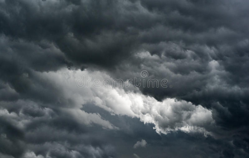 Stormy clouds. Heavy gale black stormy clouds stock photos