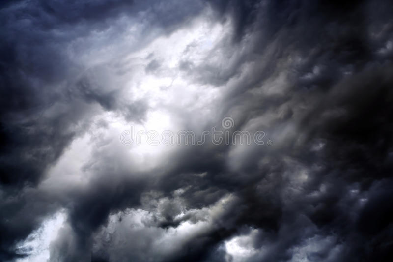 Stormy clouds. Black stormy clouds before a thunderstorm royalty free stock photos