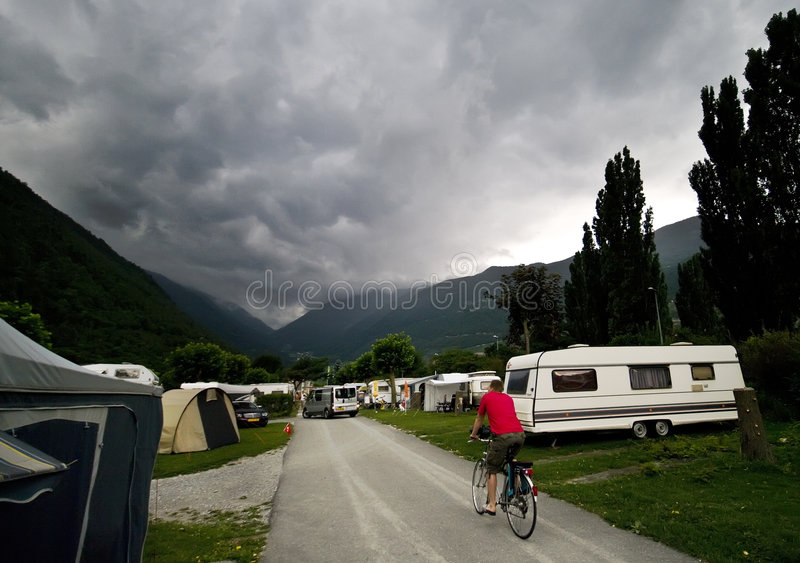 Download Stormy clouds at camp site stock photo. Image of gray - 6030250
