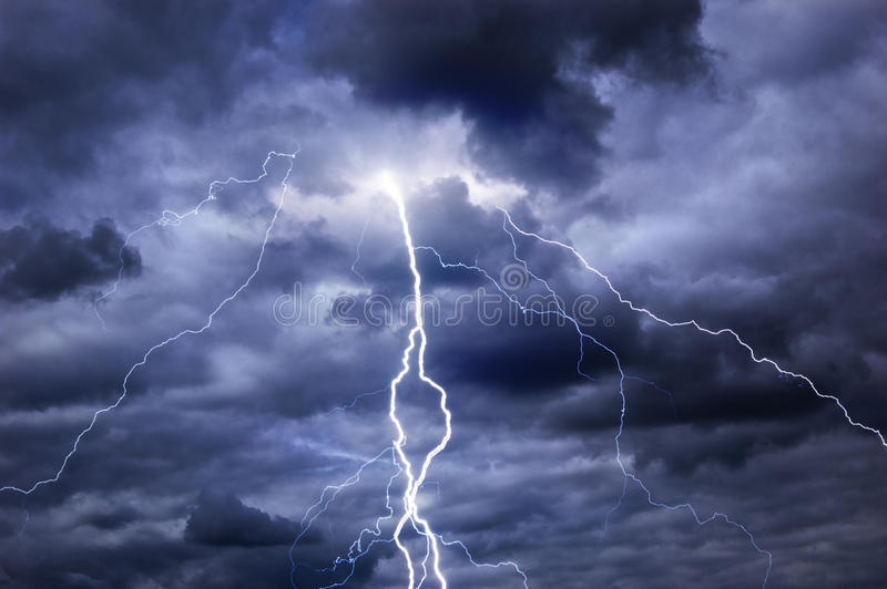 Download Stormy Clouds, Thunder And Lightning Stock Image - Image of haunted, creepy: 20038085