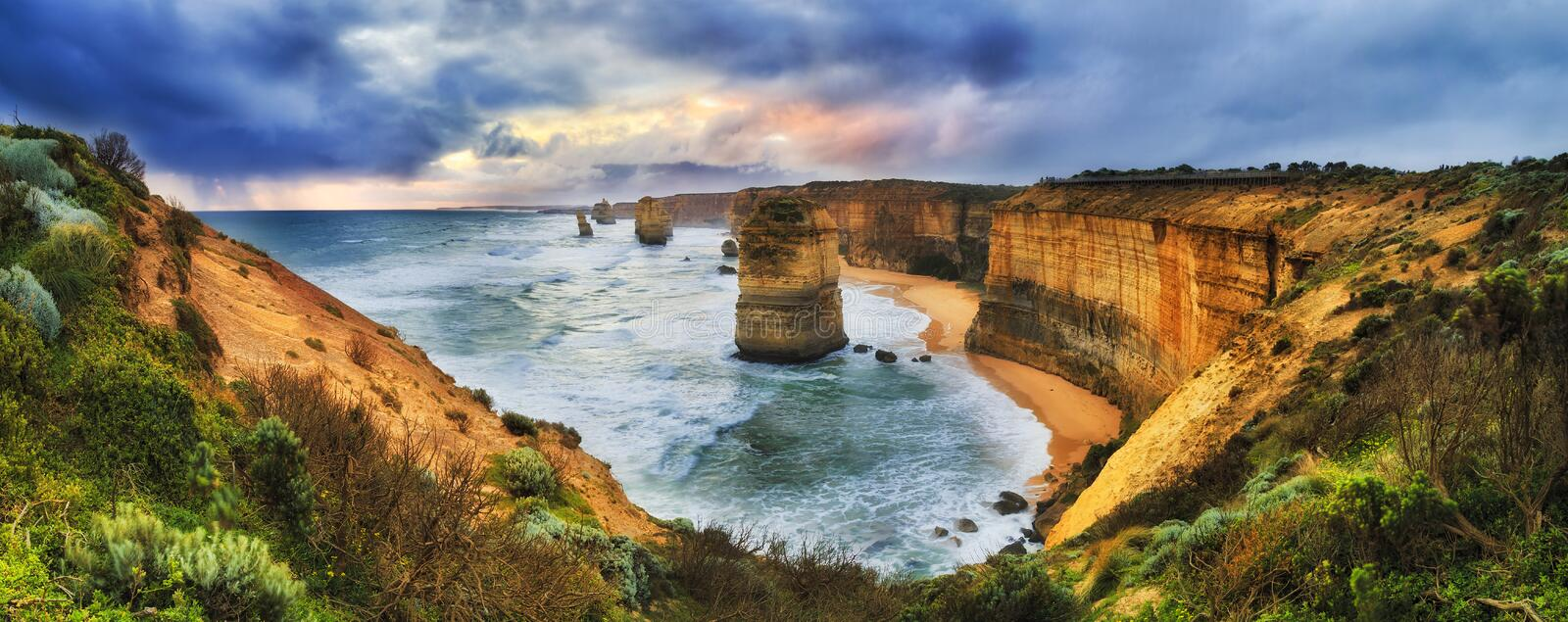 GOR 12 Apostles Lookout Set Clouds royalty free stock images