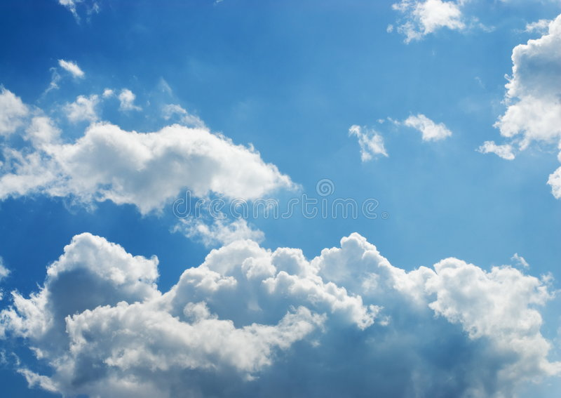 Stormy cumulus clouds stock photo