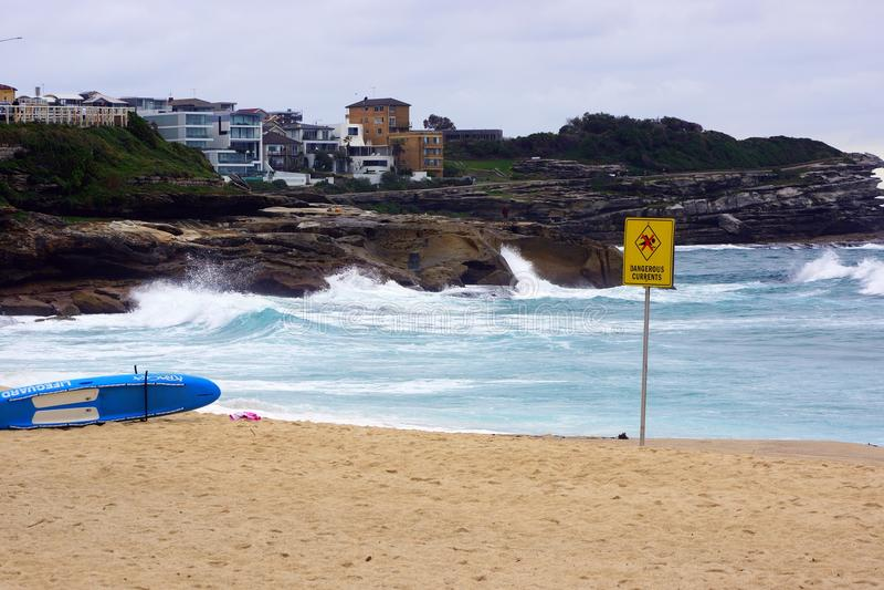 Wild Surf at Stormy Bronte Beach, Sydney, Australia royalty free stock photography