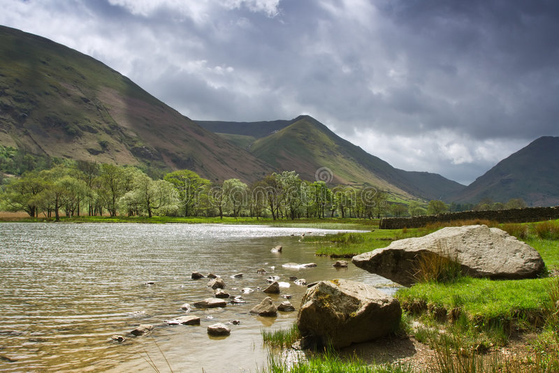 Stormy day,Lake District stock photo