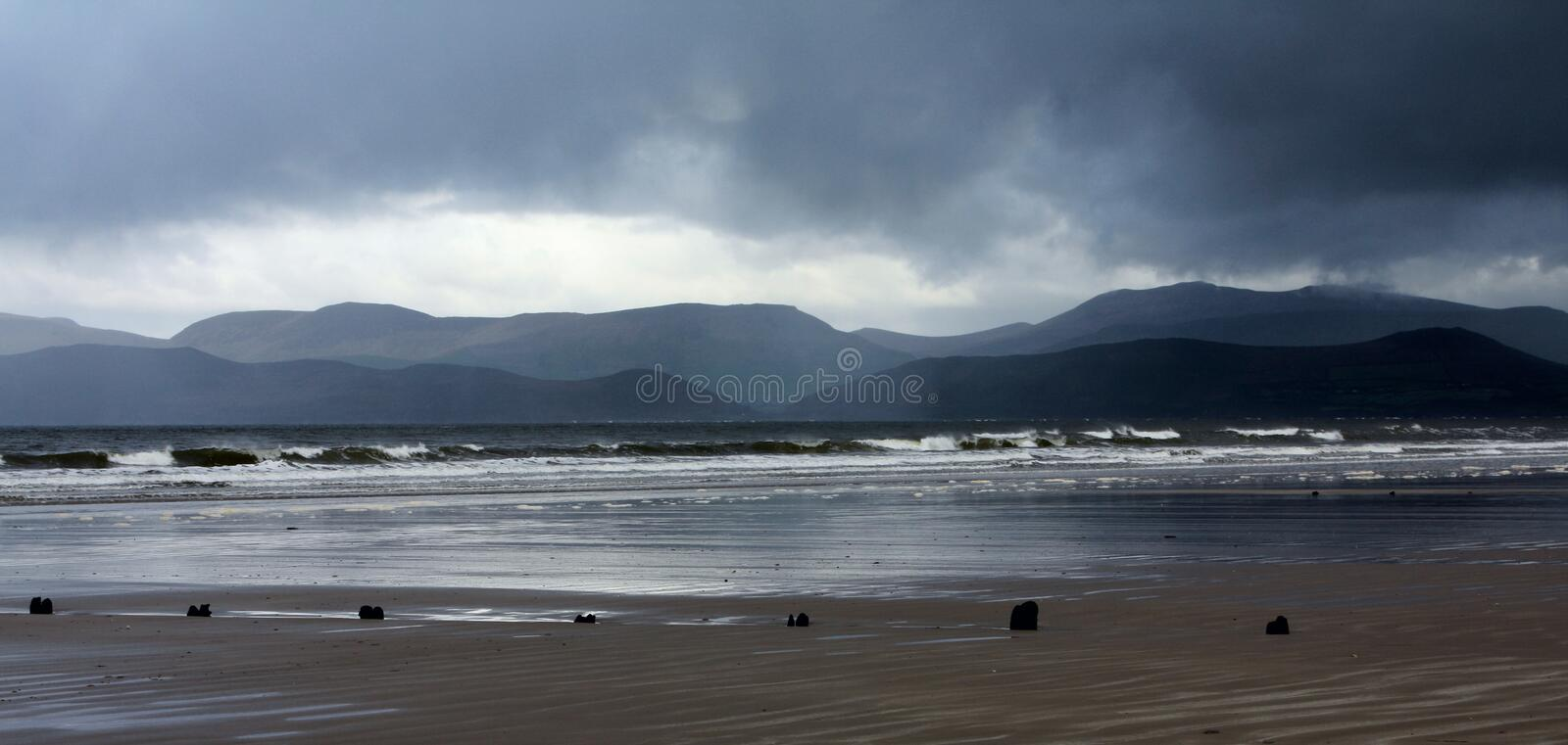 Stormy Day At Rossbeigh Strand Stock Photos