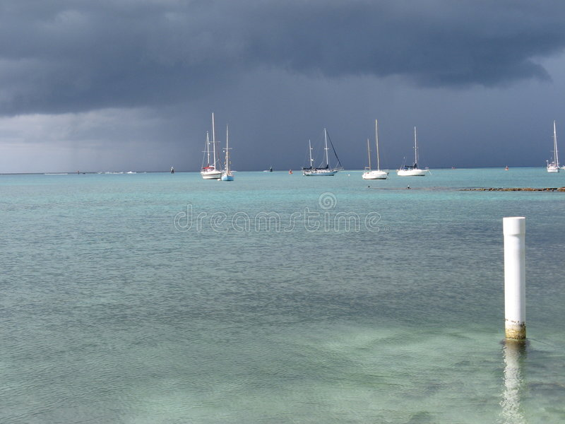 Stormy day at sea royalty free stock images