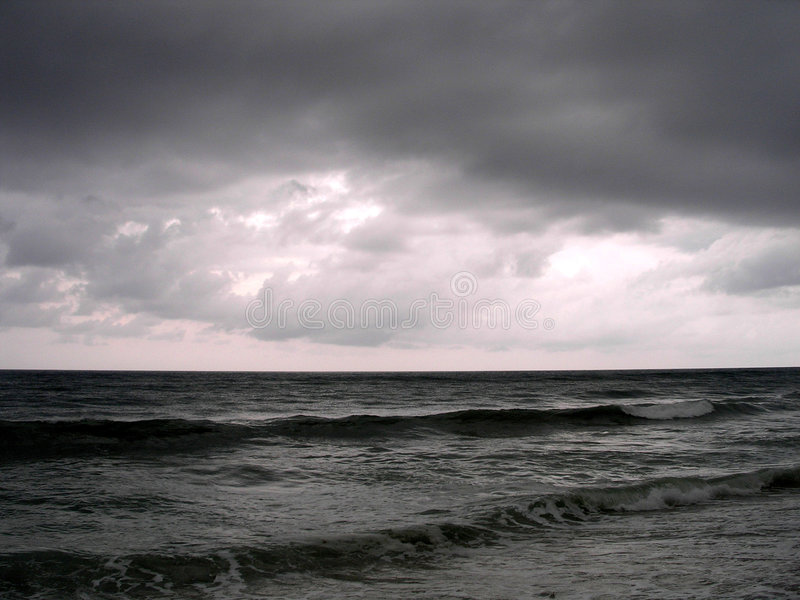 Download A Stormy Evening On The Ocean Stock Photo - Image: 193050