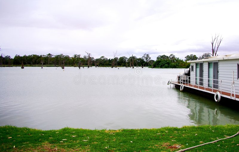 Download Stormy Houseboating stock photo. Image of riverland, house - 4847426