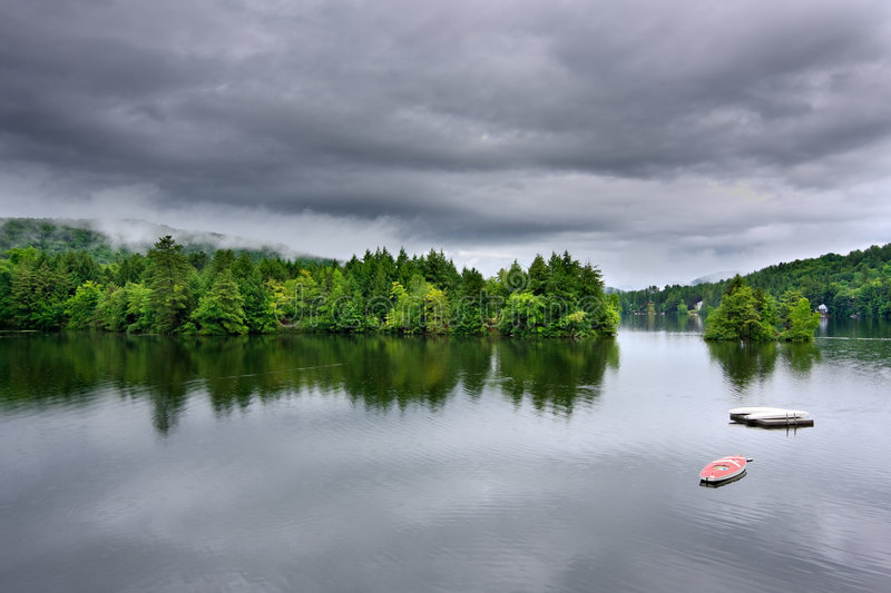 Download Stormy Lake Scene stock image. Image of storm, lakes, moody - 7277219