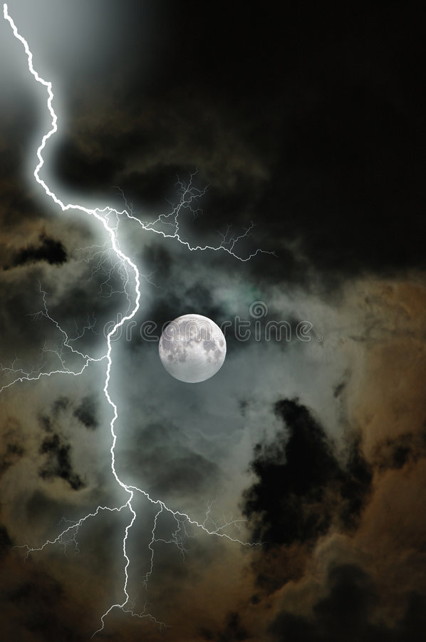 Download Stormy Moon stock photo. Image of stormy, outdoor, harvest - 4348472