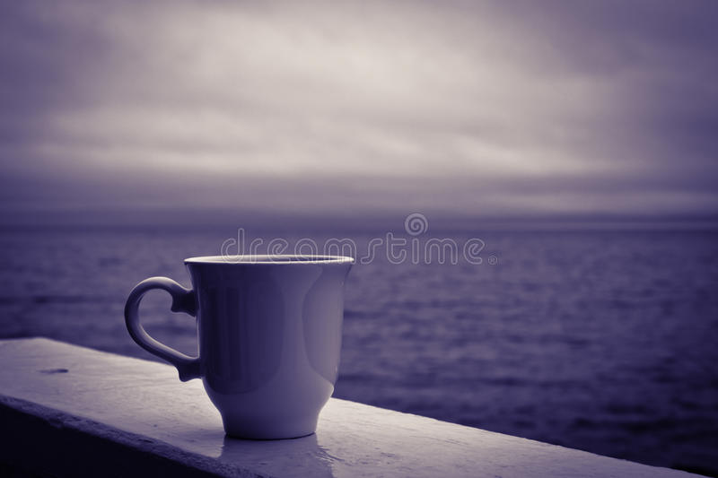 Stormy Morning Coffee royalty free stock photo