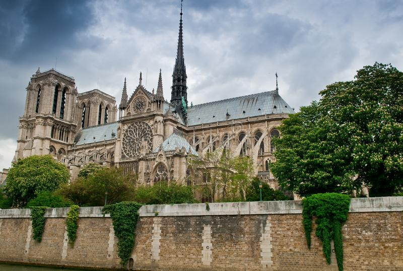 Download Stormy Notre Dame stock image. Image of notre, flying - 14340037