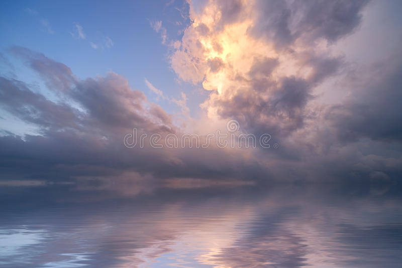 Stormy ocean sunrise royalty free stock images