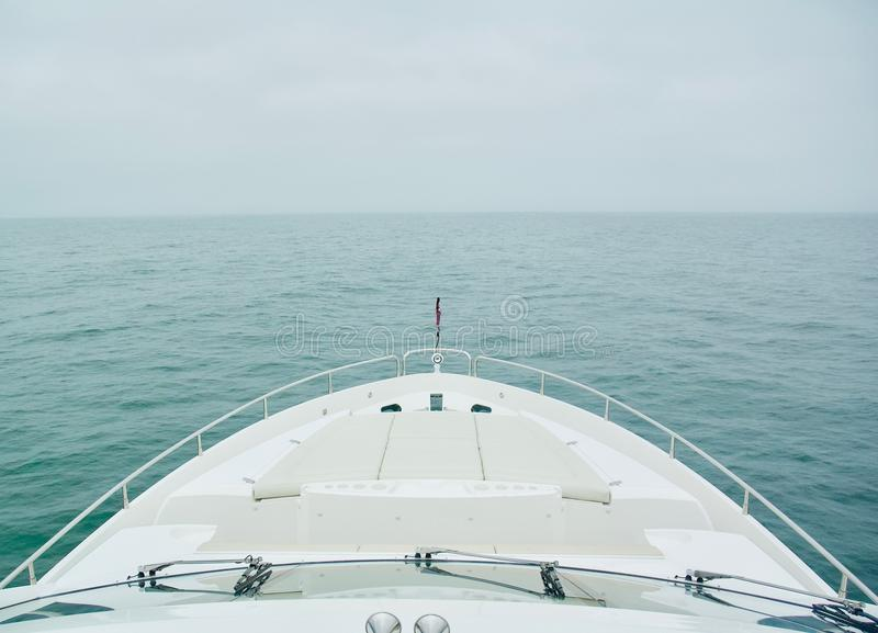 Ocean Views from Luxury Yacht on a Cloudy Day royalty free stock image