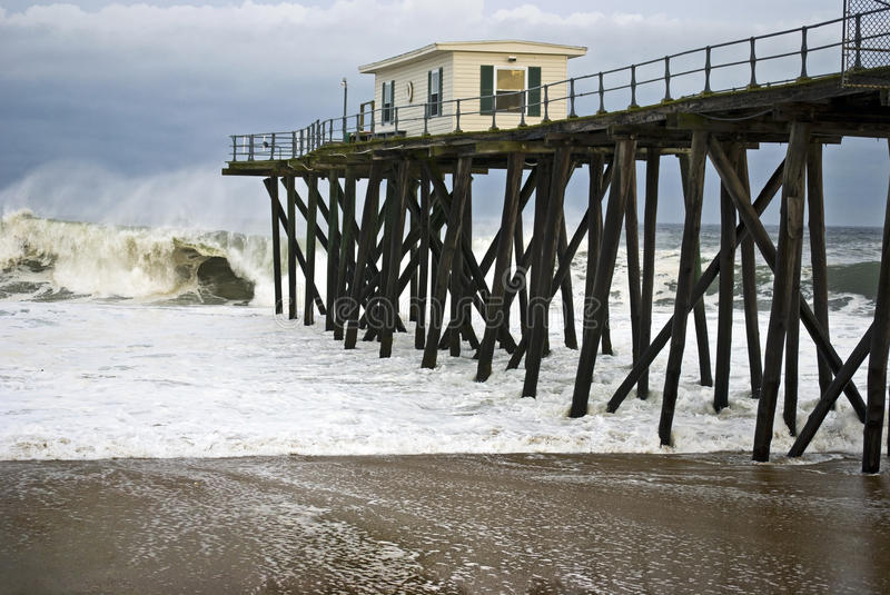 Download Stormy Pier Stock Image - Image: 24339331