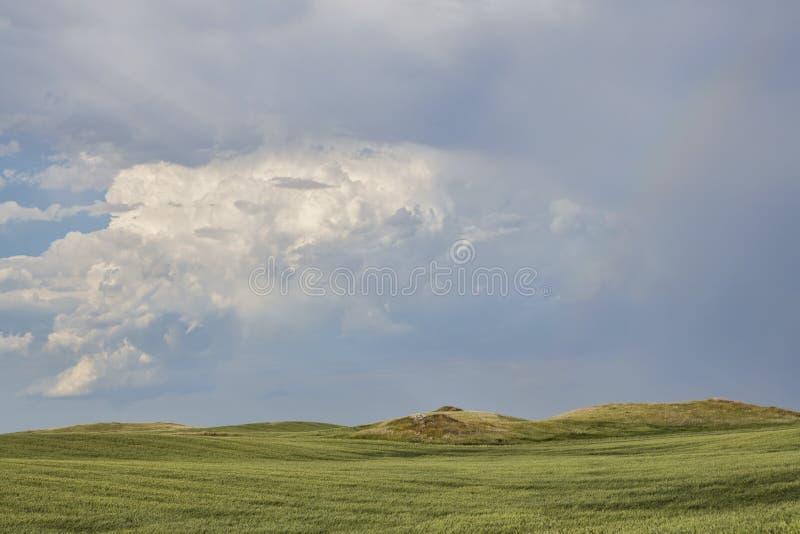 Stormy Prairie. Storm passing through rural North Dakota royalty free stock photography