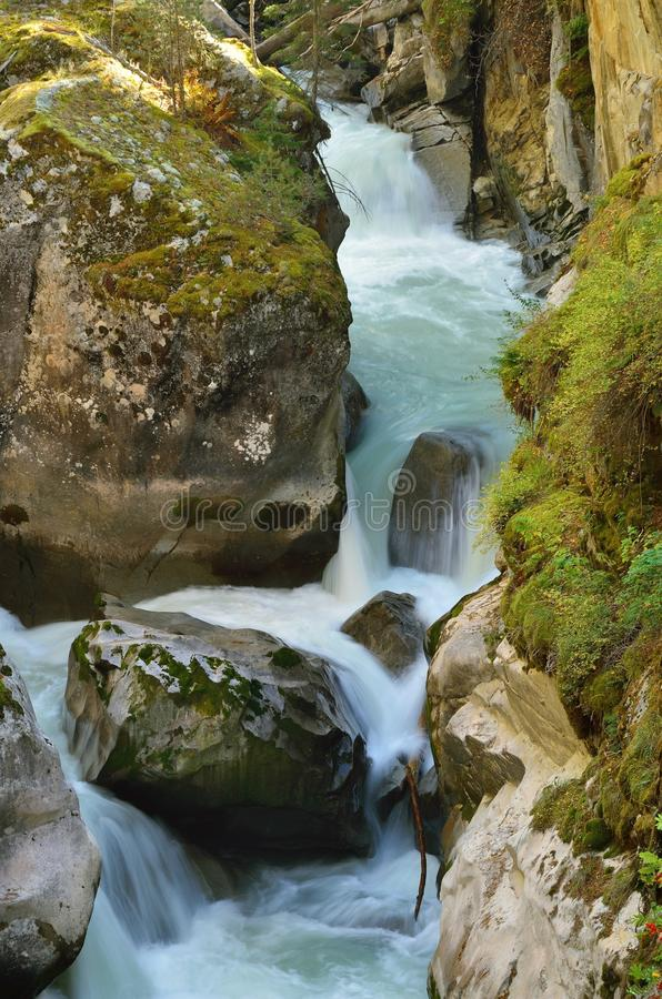 Stormy river royalty free stock photography