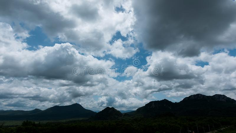 Stormy scenery countryside at reservoir and beautiful clouds royalty free stock photos