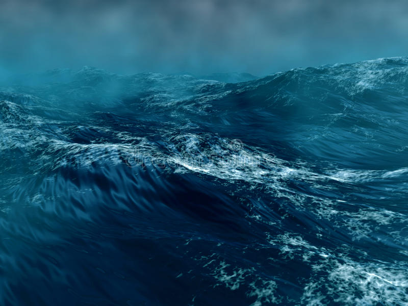 Download Stormy sea stock illustration. Illustration of aqua, environment - 13122926
