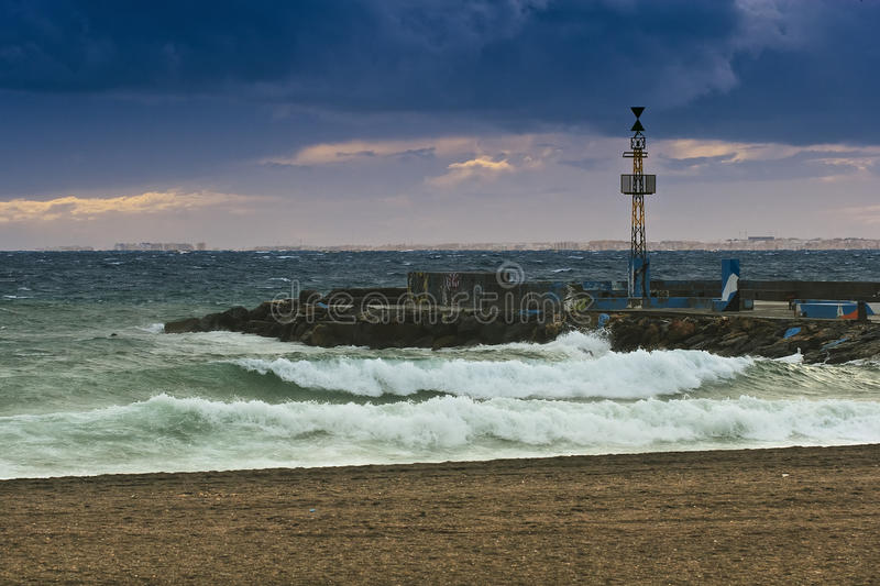 Download Stormy sea stock image. Image of stormy, nature, monsoon - 25575641