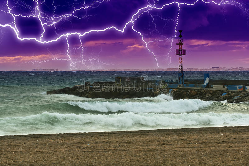 Download Stormy sea stock image. Image of background, andalusia - 25575725