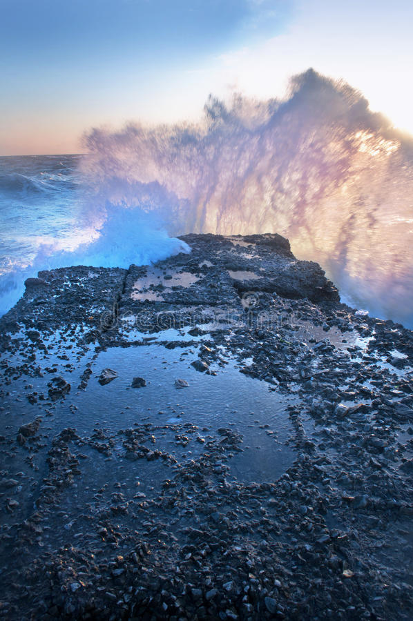 Download Stormy Sea Crashes In The Rocks Stock Image - Image: 24290811