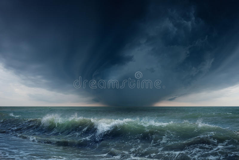 Download Stormy sea stock photo. Image of dark, thunder, dramatic - 32121354