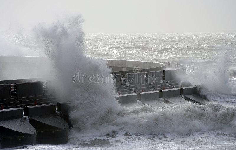Download Stormy seas stock photo. Image of coast, jetty, gale, storm - 348718