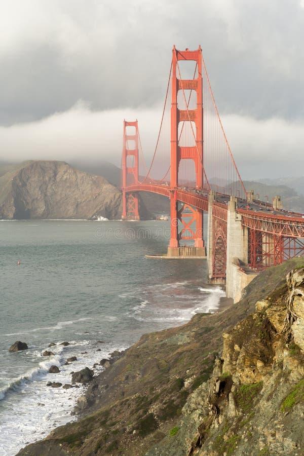 Stormy Skies on the Golden Gate Bridge stock photos