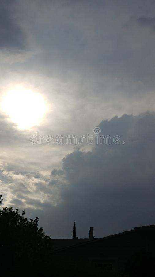 Stormy Skies. Ominous weather is imminent during southern California monsoon season stock photography