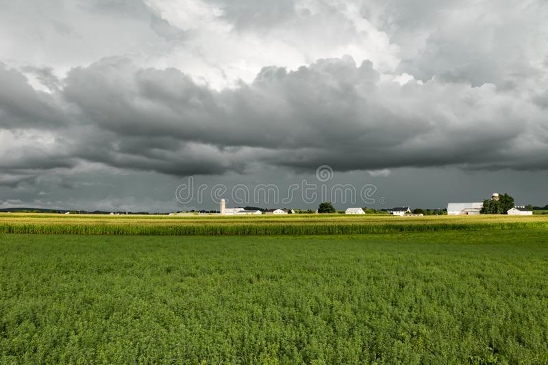 Stormy Sky. Approaching storm clouds in the distance stock photos