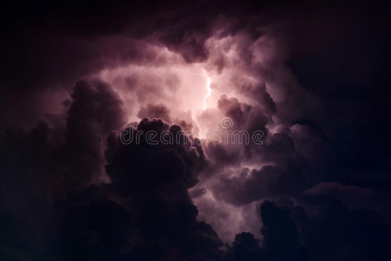 Stormy sky. Over the Black Sea on a summer evening royalty free stock photo