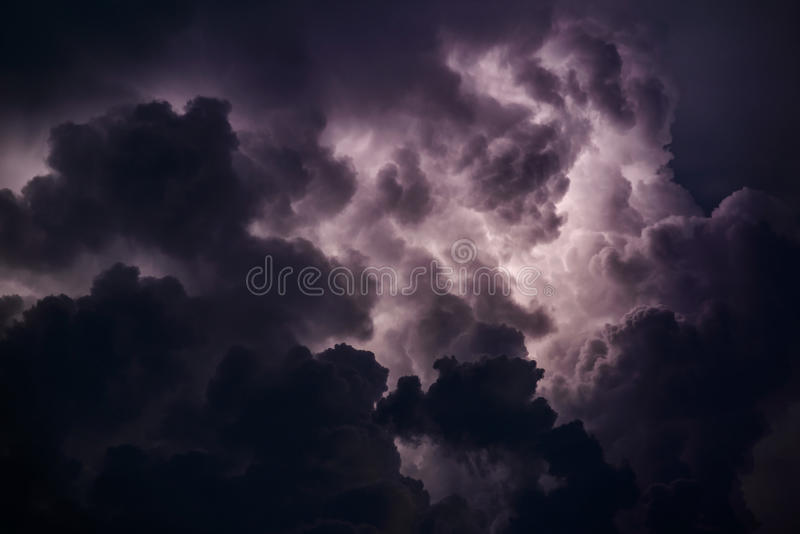 Stormy sky. Over the Black Sea on a summer evening royalty free stock photos