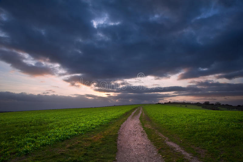 Download Stormy Sky Over Countryside Landscape Stock Image - Image: 23704007