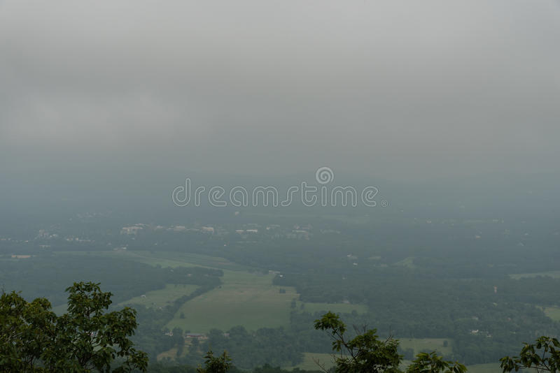 Stormy sky over the Mohonk preserve royalty free stock photos